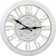 Часы настенные Skeleton 28x4 см белый