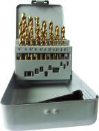 Набор сверл по металлу Vulkan HSS-TiN 34 мм 1-10 мм 19 шт. 61020161