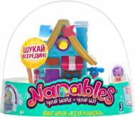 Игровой набор Jazwares Nanables Small House Зимняя страна чудес Книжный магазин У камина (NNB0032)