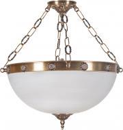 Люстра підвісна Фабрика Світла Помпез 4x60 Вт E27 латунь НСБ 012-4х60-445