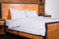 Комплект постельного белья Урбан евро бело-серый Rigel
