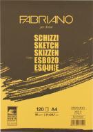 Склейка для ескізів Schizzi Sketch A4 21х29,7 см 90 г/м² 120 сторінок Fabriano