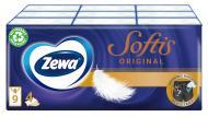 Серветки паперові кишеньки Zewa Softis носові хусточки чотиришарові 9 шт.