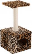 Кігтеточка Природа Д1 з будкою леопардова 32х32х65 см