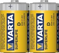 Батарейка Varta Superlife FOL D (R20, 373) 2 шт. (02020101302)