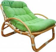 Крісло Cruzo Соло з натурального ротанга 79х100 см світло-коричневийзелений
