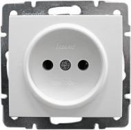 Розетка без заземления Lezard Rain 16 А 250 В без шторок белый 703-0288-121В