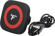 Автомобільний зарядний пристрій тримач з бездротовою зарядкою FullFix EL003 чорно-червоний