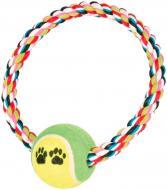 Іграшка для собак Trixie Канат із тенісним м'ячем D18 см 3266