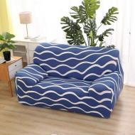 Чехол на кресло диван натяжной Stenson R26299 Blue 90-145 см (008832)