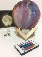 Настольный ночник светильник HLV 3D Moon Lamp Touch Control Луна 15 см + пульт 16 режимов (111681)