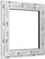 Вікно поворотно-відкидне ALMplast 60 500x500 мм праве