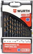 Набор сверл по металлу WURTH Red Line HSS DIN338 d1,5-6,5 мм 13 шт. 0624701