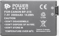 Акумулятор PowerPlant Canon BP-315 2000мА*ч (DV00DV1078)