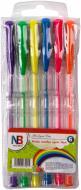 Набір ручок гелевих Nota Bene NEON 6 кольорів