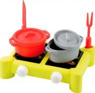 Ігровий набір посуду Ecoiffier Плита та посуд 7 предметів 602