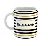 Чашка Black&Gold «Виталий» Be Happy