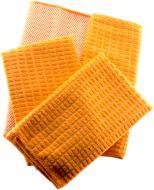 Набір рушників кухонних 2 шт 40x48 см та 2 шт 30x30 см мікрофібра Zastelli помаранчевий