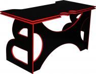 Стіл комп'ютерний Barsky Homework Game HG-05 чорний/червоний
