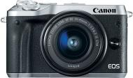 Фотоапарат Canon EOS M6 Kit 15-45 IS STM silver