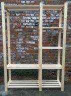 Деревянный стеллаж для хранения вещей AL2