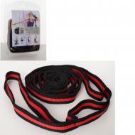 Лента-эспандер для йоги MS 2810, 202 см (Красный)
