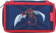 Пенал укомплектований Robo Dragon Herlitz синій із червоним