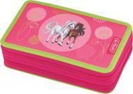 Пенал 23 предметів Double Spring Horses 50014255 Herlitz рожевий