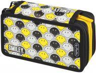 Пенал 31 предм Triple Smileyworld Black & Yellow 50015429 Herlitz чорно-жовтий