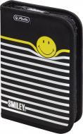 Пенал Smileyworld Stripes 19 предметів 50015382 Herlitz чорний