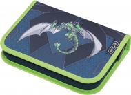 Пенал 31 предм Robo Dragon Green Зелений Дракон синій 50014361 Herlitz синій