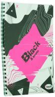 Книга для нотаток Office Black & Bright А5 40 аркушів pink Uprofi plan