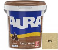 Деревозащитное средство Aura® Lasur Aqua дуб шелковистый мат 0,75 л