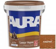 Деревозащитное средство Aura® Lasur Aqua каштан шелковистый мат 0,75 л