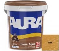 Деревозащитное средство Aura® Lasur Aqua тик шелковистый мат 0,75 л
