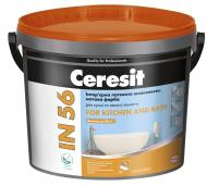 Фарба інтер'єрна латексна акрилова Ceresit IN 56 For Kitchen and Bath База А шовковистий мат білий 3л