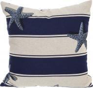 Подушка декоративна Морська зірка 45x45 см білий із синім Grande Home