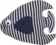 Подушка декоративна Рибка 50x45 см білий із синім Grande Home