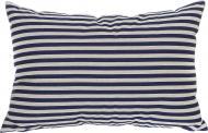 Подушка декоративна Смужки 55x45 см білий із синім Grande Home