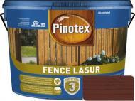 Деревозащитное средство Pinotex fence lazur красное дерево мат 10 л