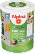 Эмаль Alpina акриловая Aqua Buntlack SM B1 база под тонировку шелковистый мат 0,75л