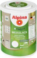 Эмаль Alpina акриловая Aqua Weisslack SM белый шелковистый мат 0,75л