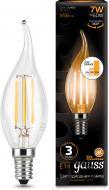 Лампа світлодіодна Gauss FIL Step Dim CA37 7 Вт E14 2700 К 220 В прозора 104801107-S