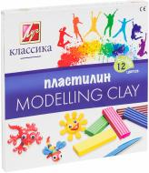Пластилін Класика 12 кольорів 7С331-08 Луч