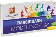 Пластилін  Класика 6 кольорів 12С878-08 Луч