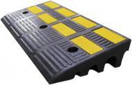 Пандус гумовий 600х300х100 мм (середня частична), кріплення в комплектi