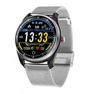 Смарт-часы Smart Watch MX9 с тонометром и ЭКГ Серебристые (386-2)