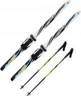 Лыжи беговые с креплениями TECNOPRO Team Glider 90 см + палки разноцветный 226108-900001