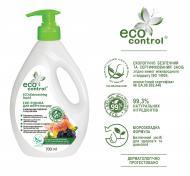 Засіб для ручного миття посуду ECO CONTROL з мильним горіхом та вугіллям 0,7л