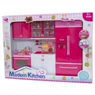 Лялькова кухня Qun Feng Toys Лялькова кухня Qun Feng Toys Сучасна кухня 47.5x9.5x35 см Рожева (QF26210PW) QF26210PW
